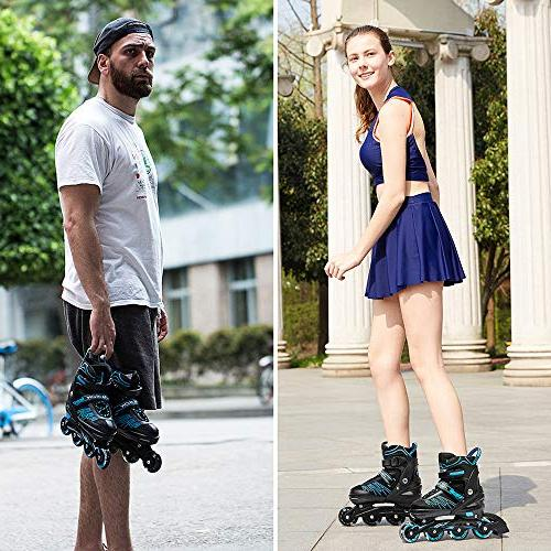 IUU Skates for and Adults, Roller Featuring All Wheels, for