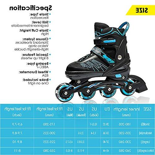 IUU Sports Adjustable Skates Adults, Roller Featuring for Men and