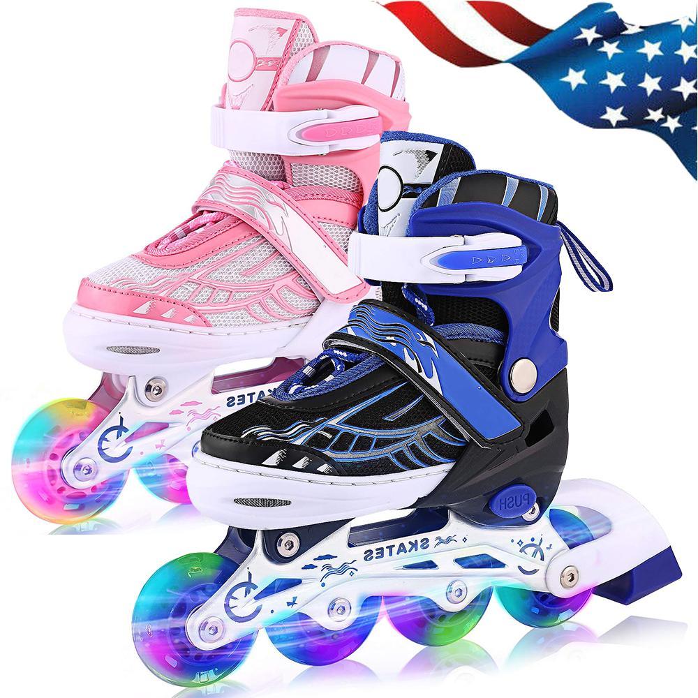 Inline Skates with Up Wheels Adjustable Skates Beginner Roller Fun-