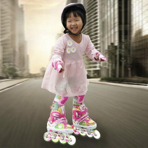 Adjustable POP Roller Skates Adjustable Rollerblades for Gir