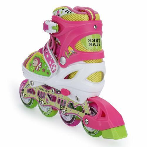 Llluminating Adjustable Skates Adjustable Rollerblades Girls