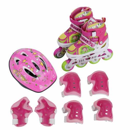 Llluminating POP Skates Adjustable Rollerblades for Girls Kid