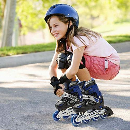 XinoSports Adjustable Inline Skates for Kids, Featuring Front Awesome-looking, Safe and Durable Rollerblades, For Boys 60-day Guarantee!