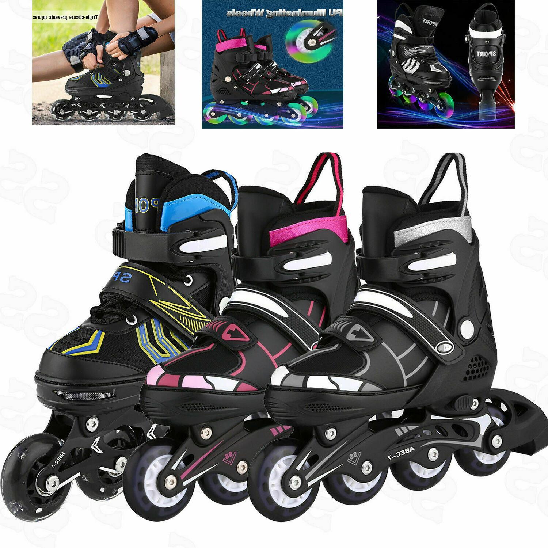 Adjustable Inline Skates Roller Blades Adult /Kids Breathabl