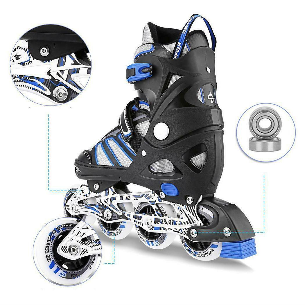 Adjustable Inline Skates Roller Blades Up Sports for Kids
