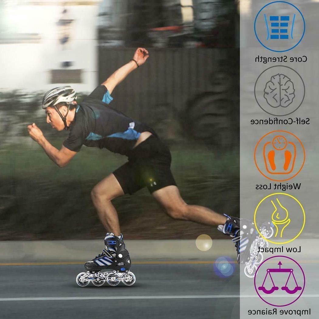 Adjustable Skates Blades Light Scale Sports Adult Kids
