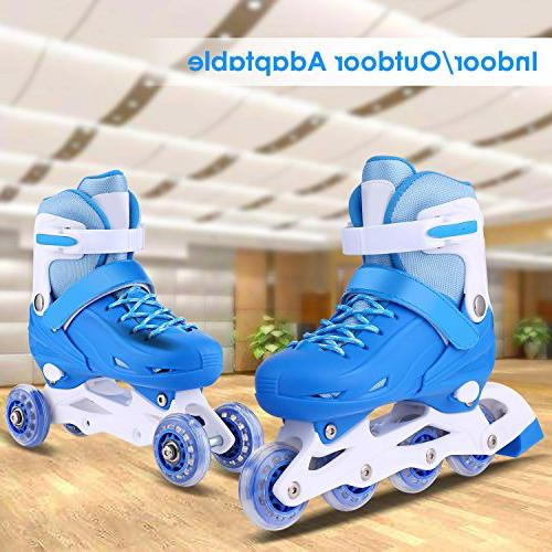 ANCHEER Kids Inline Skates for Youth Outdoor Roller Skating Size 1 3 4