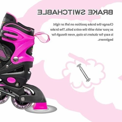 Hiboy Adjustable Inline Skates with Light Wheels Kids
