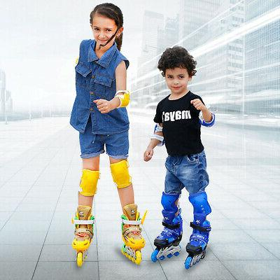 Adjustable Kids Rink Skates Quad Roller Skates