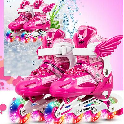 adjustable kids girls boys rink skates 4