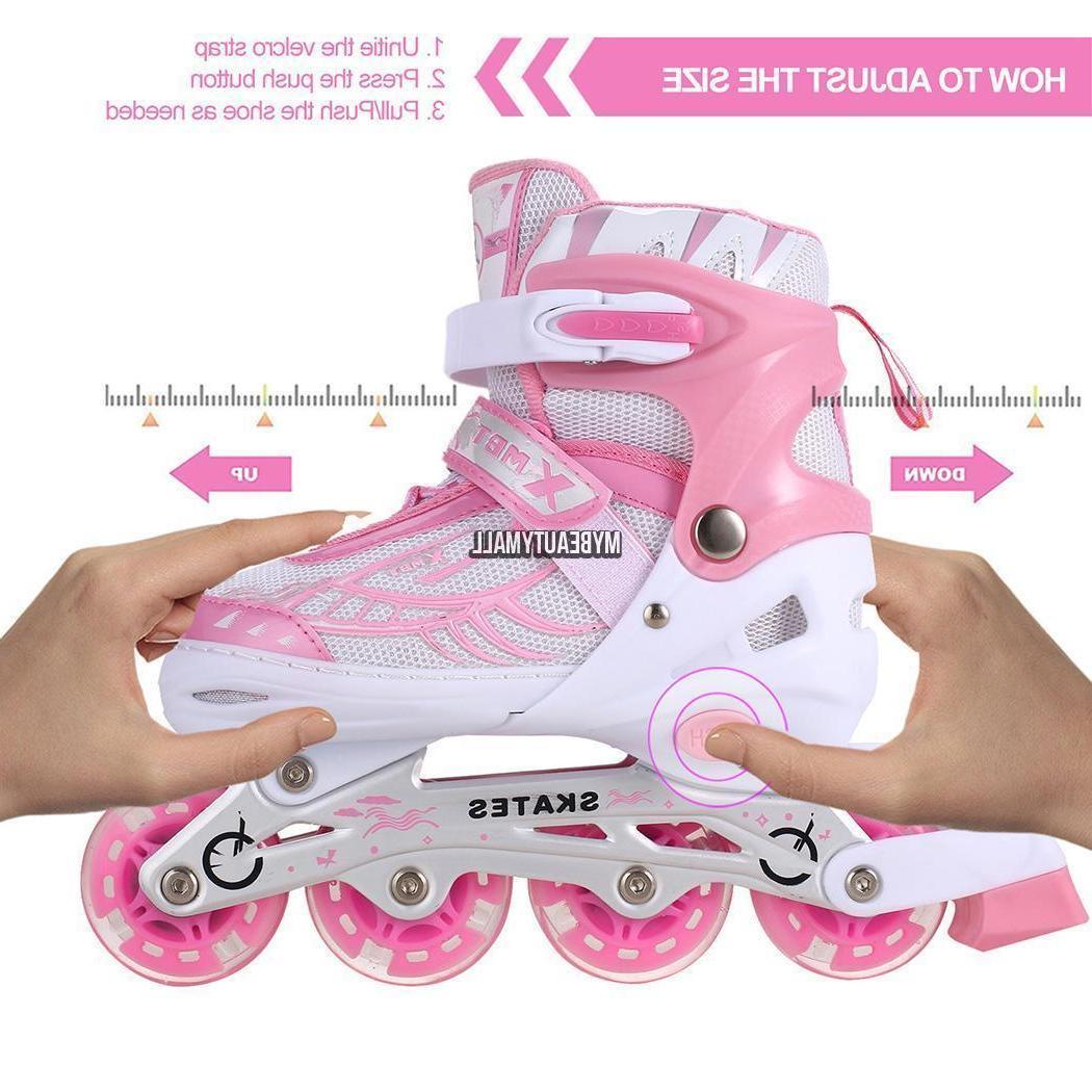 Adjustable Kids Roller Blades Inline Size Roller Sporting
