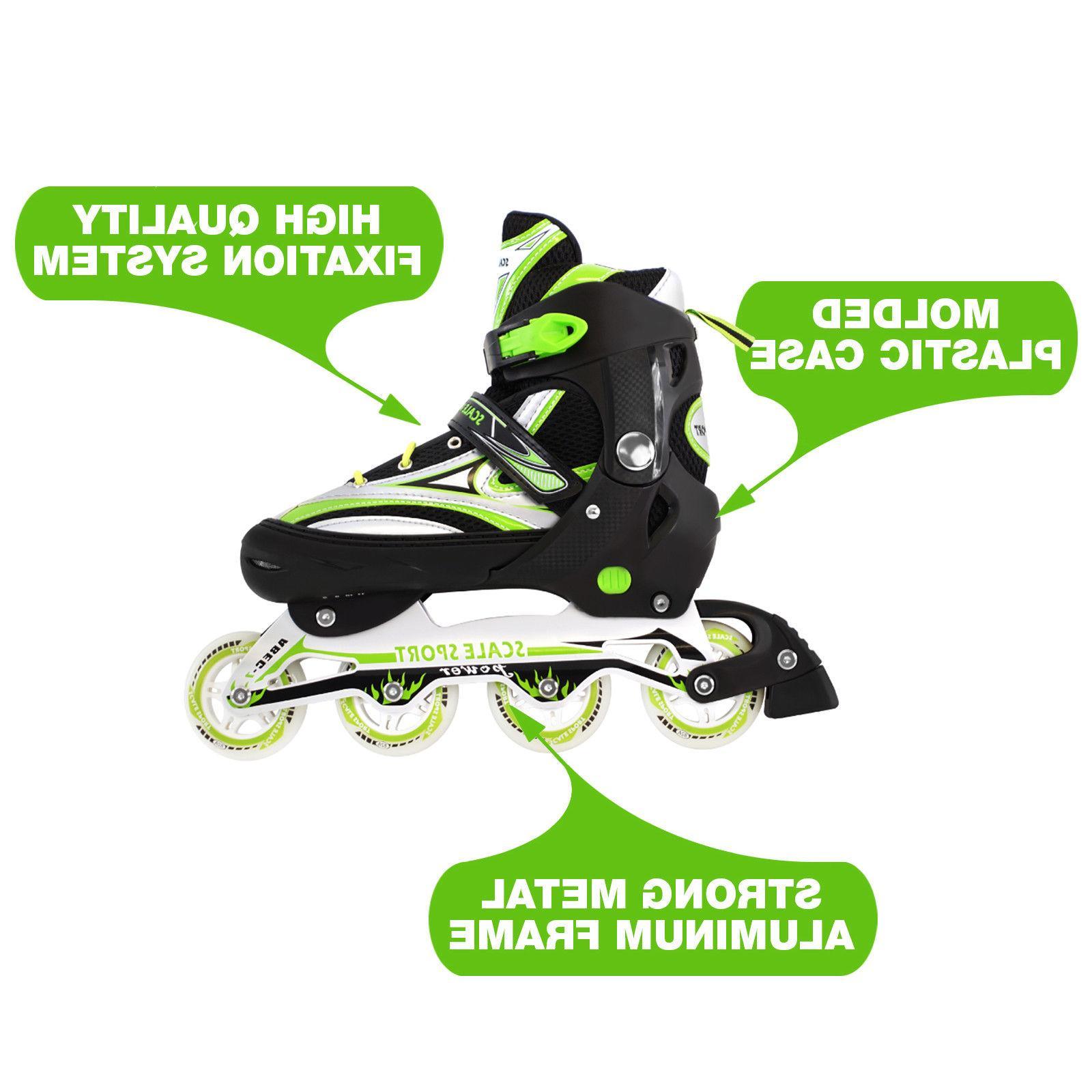 Adjustable Inline Skates Roller Blades 8-11