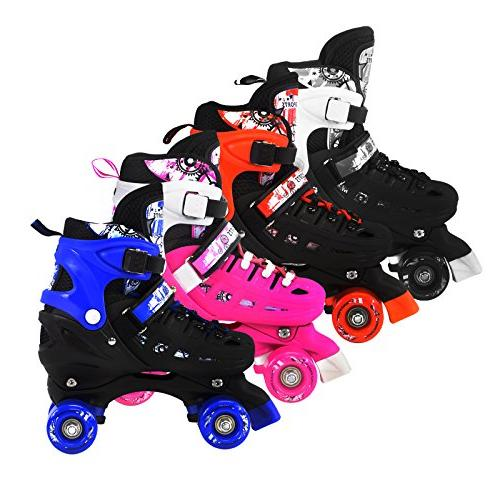 Scale Sports Red Quad Roller for Kids Sizes