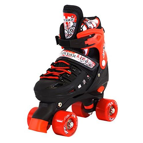 Scale Sports Adjustable Quad Roller Kids Sizes