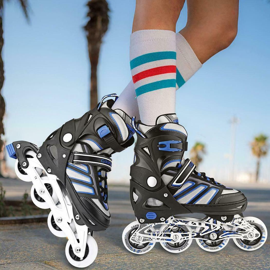 adjustable inline skates roller blades light up