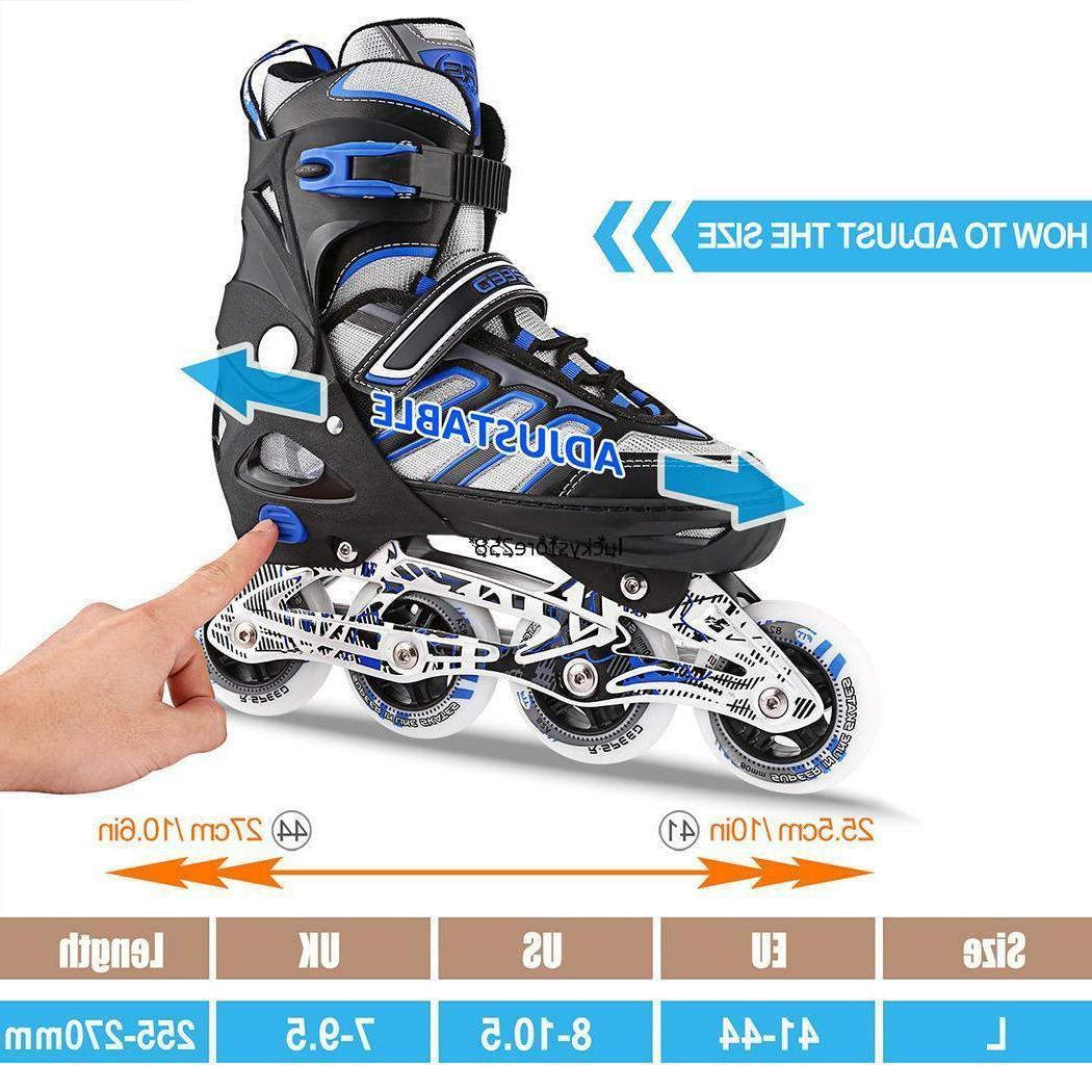 Adult Cool Adjustable Size Inline Skates Roller