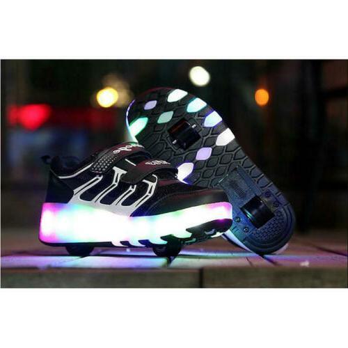 Adult Kids Skate Shoes Wheel Sneaker Boys Led Sneakers