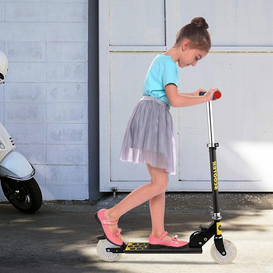 Aluminum Kids Kick <font><b>Scooter</b></font> Adjustable Fo