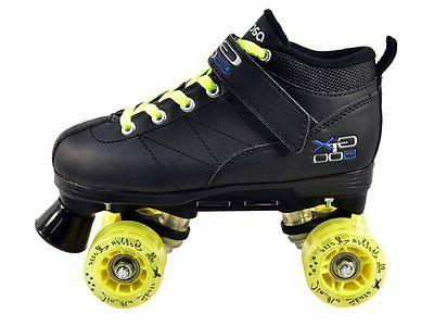 Black Pacer Mach 5 GTX-500 Skates with Yellow Up