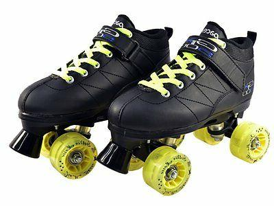 Black Skates with Yellow Up