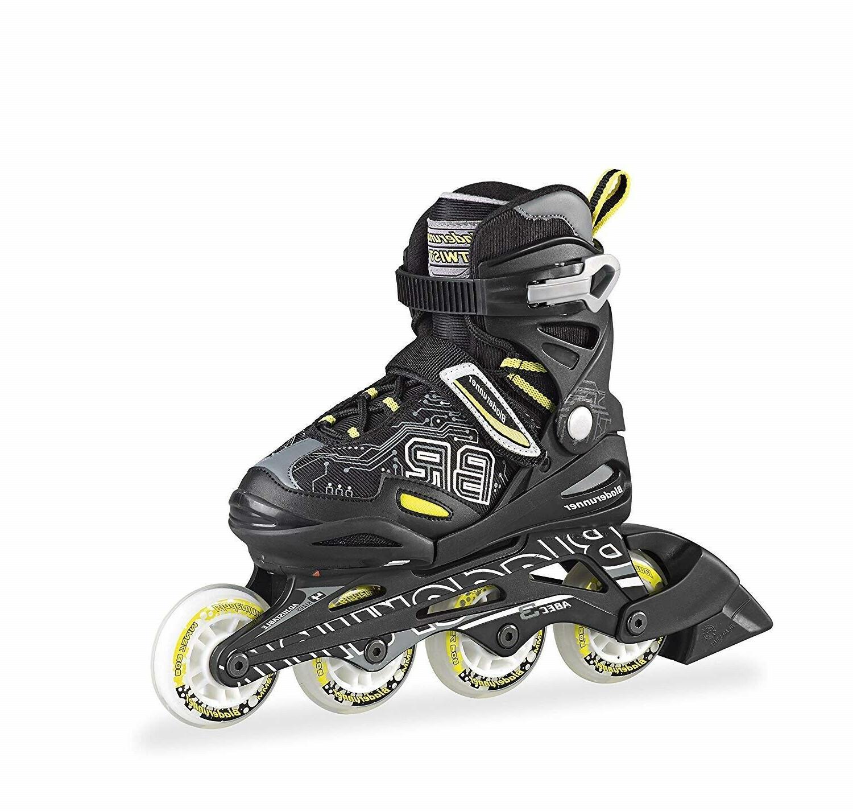 bladerunner twist junior inline roller skates black