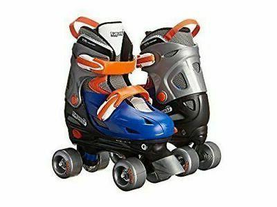 Boy's Adjustable Quad Roller Skate by CHICAGO SKATES, Blue/S