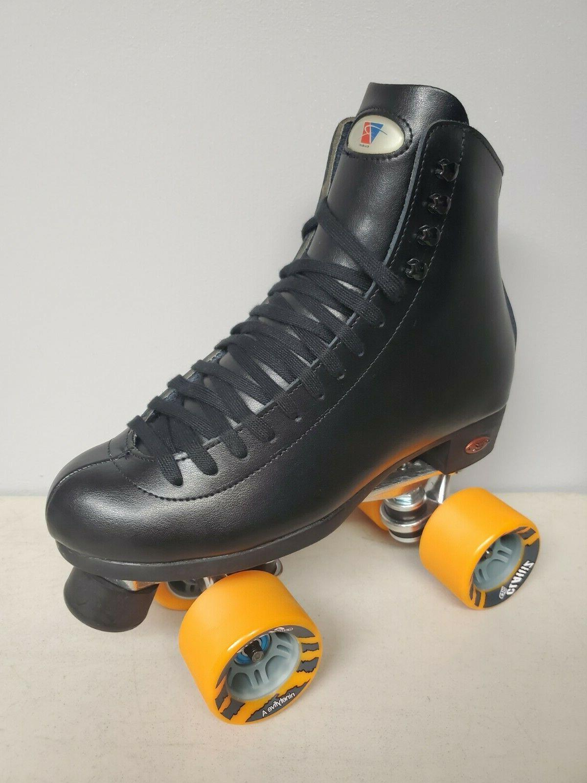 brand new 120 leather boot roller skates