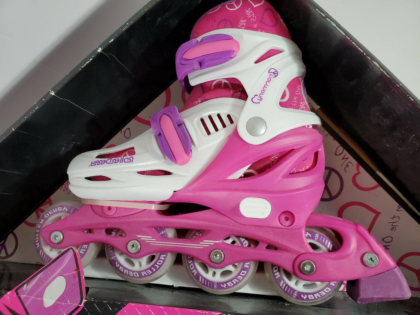 Brand RD Derby Adjustable Inline Skates Girls 3-6