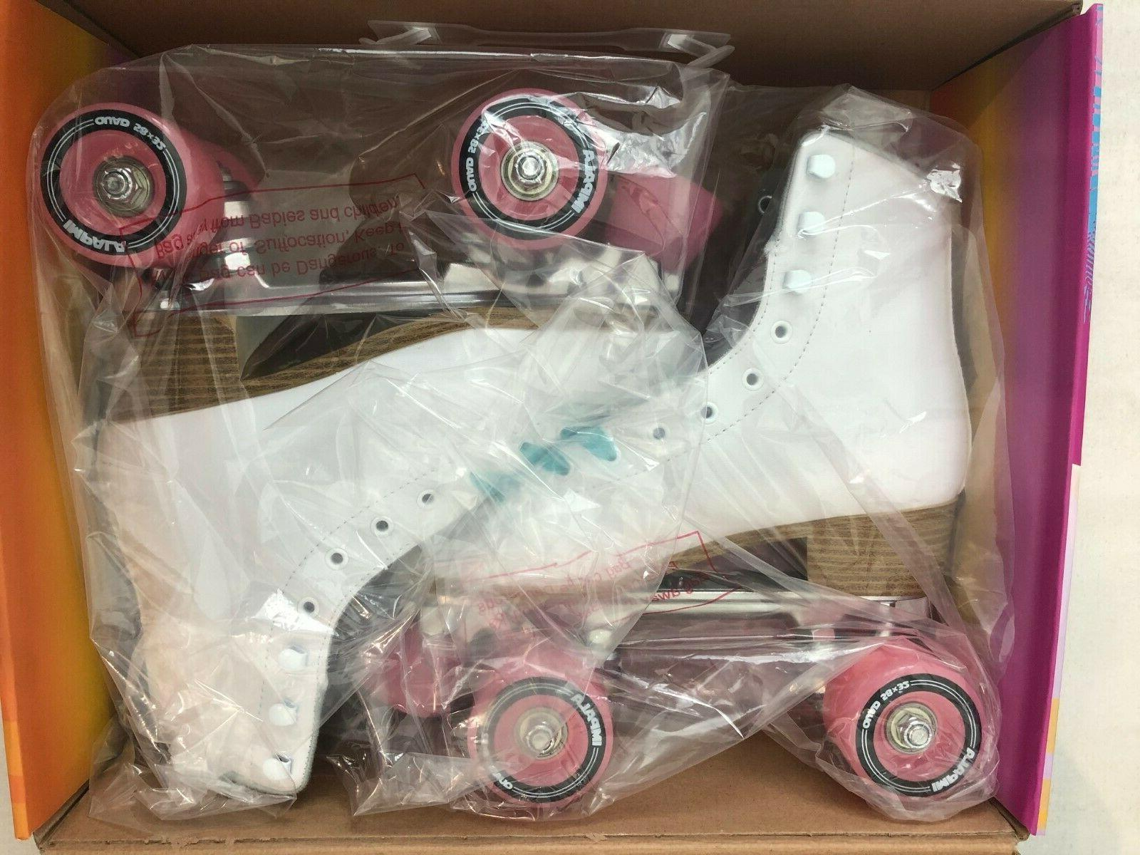 brand new roller skates white quad vegan