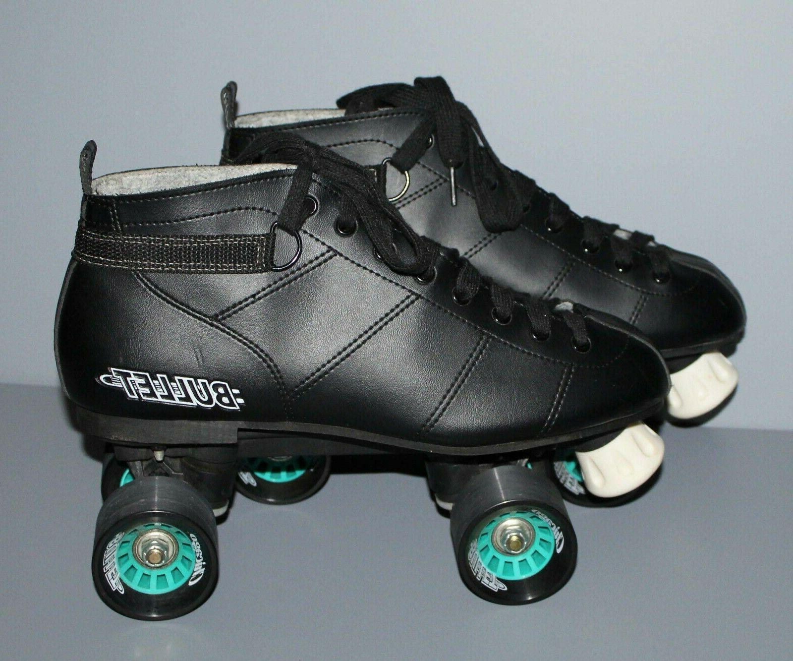 bullet quad speed black roller skates men