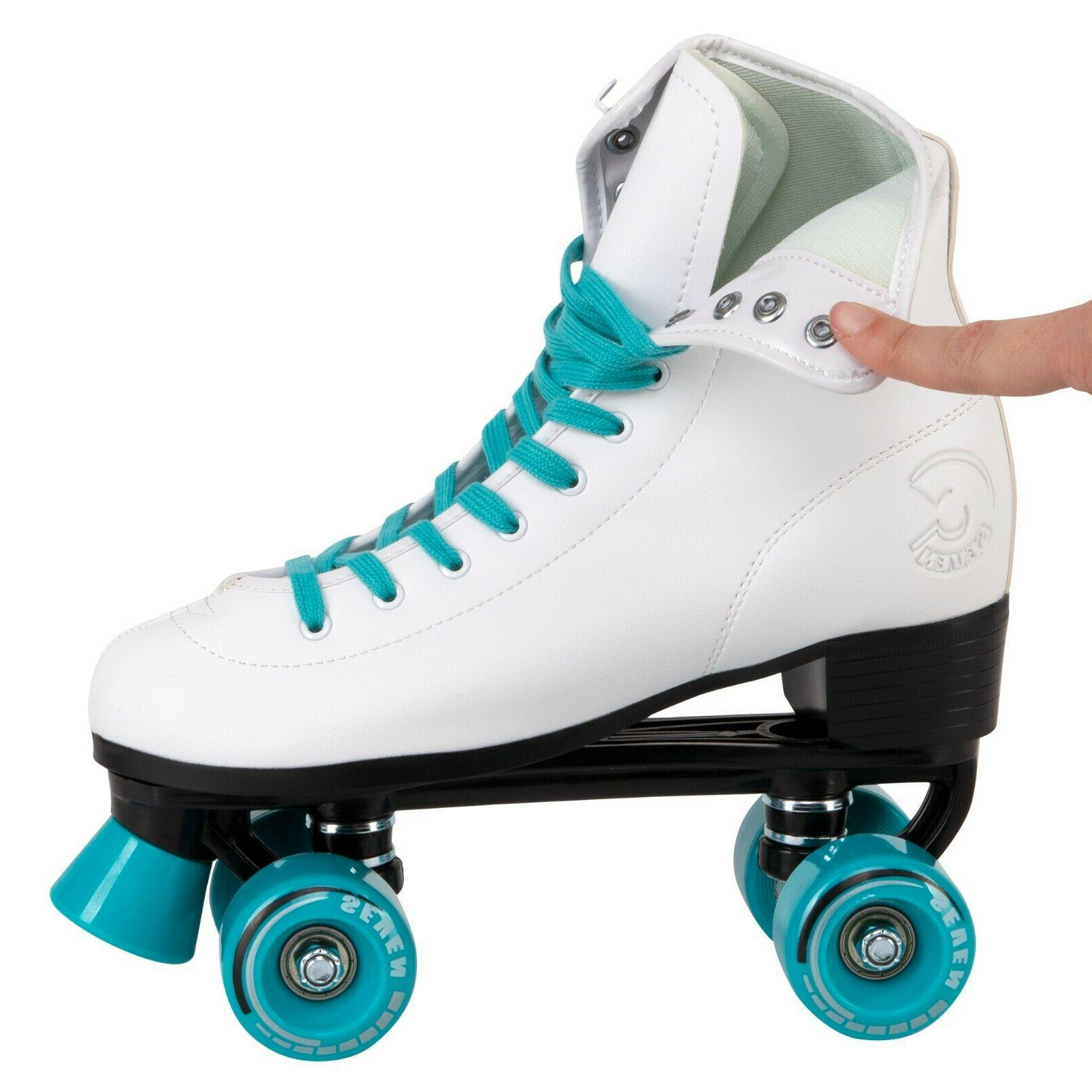 C7skates Teal Blue Faux Leather Girls Christmas