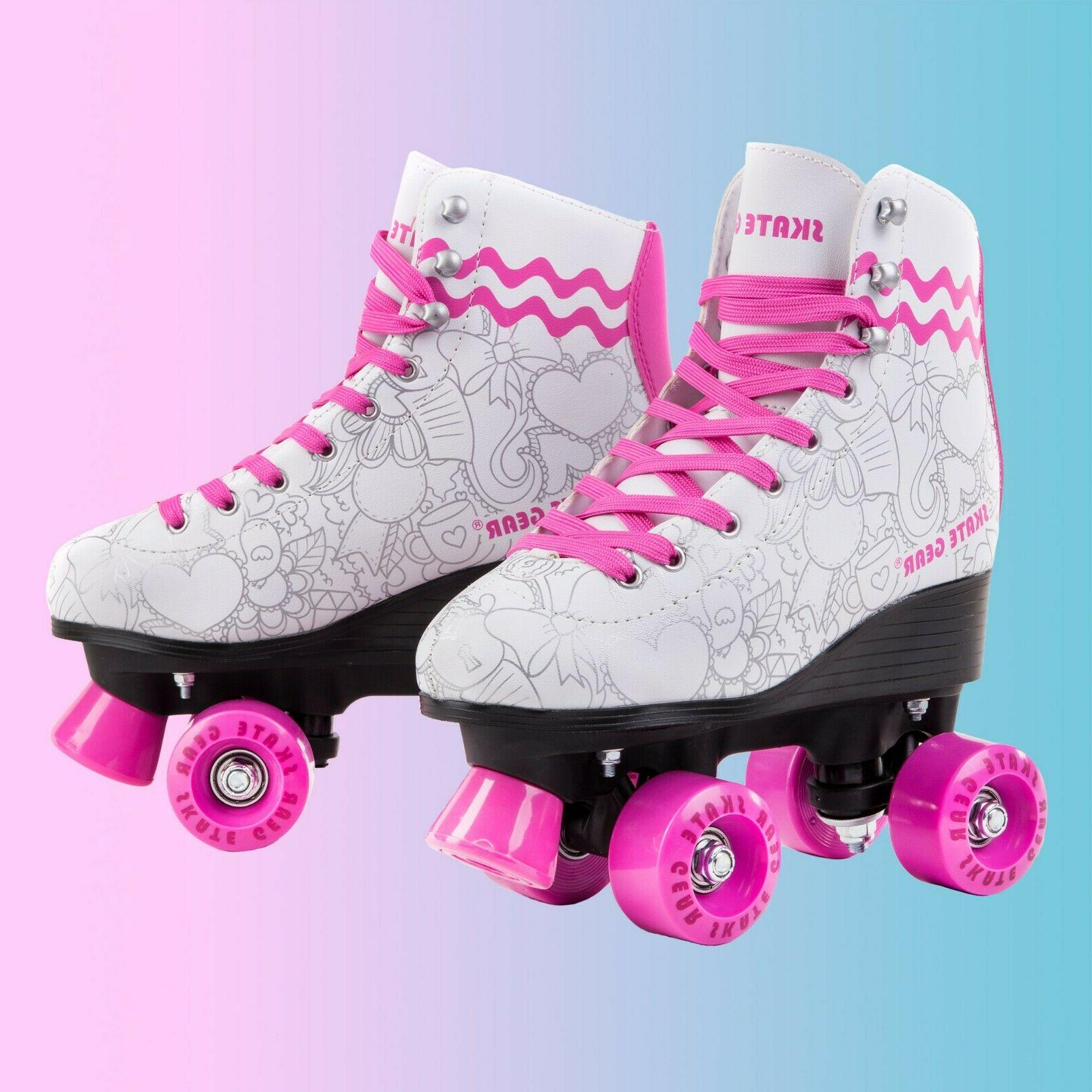 Cal 7 Roller Skating Graphic Faux Boot PVC
