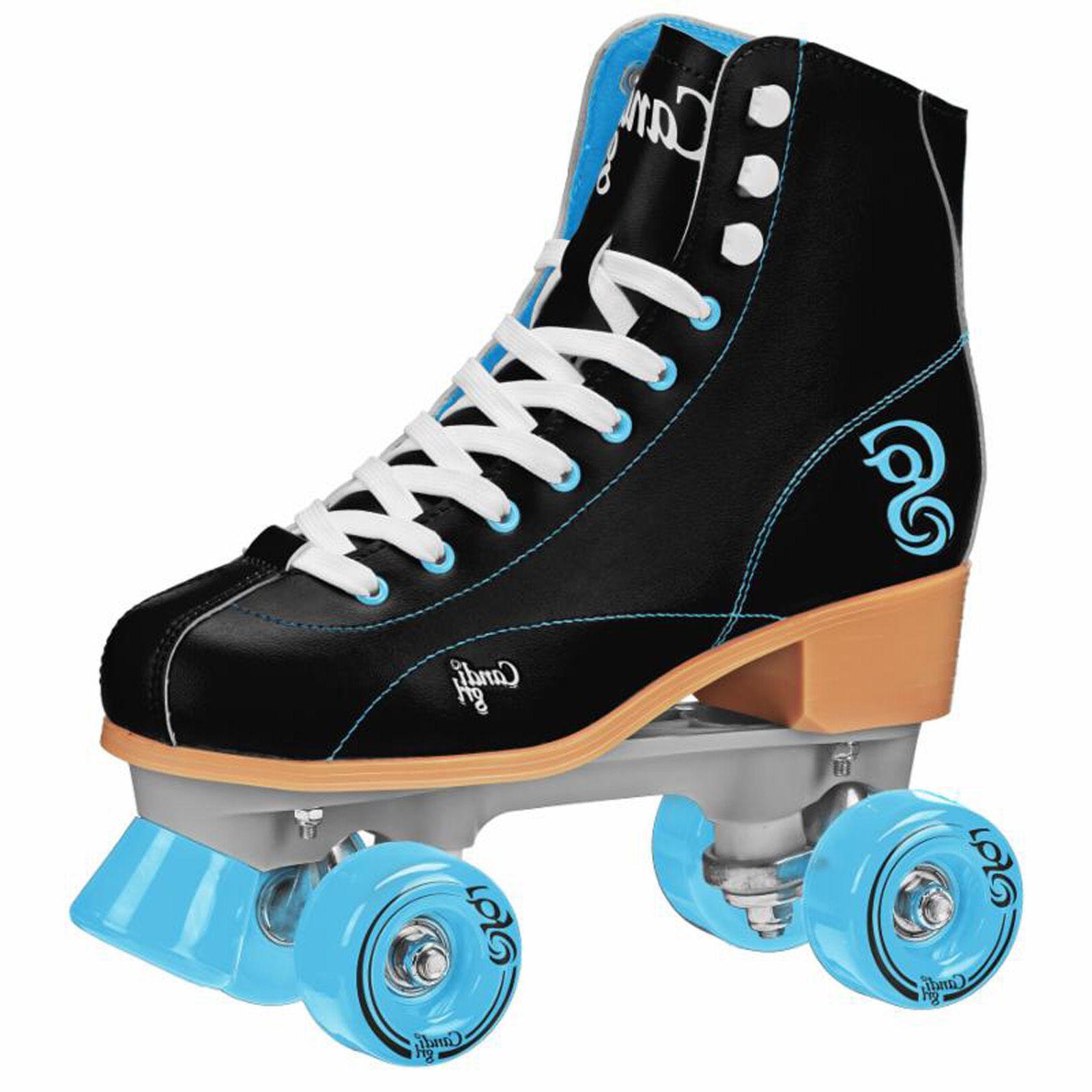 candi girl sabina black teal roller skates