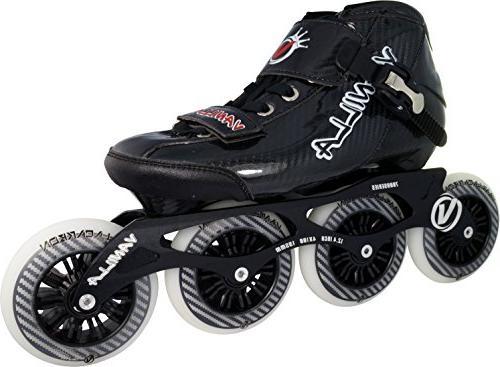 carbon speed inline skates black
