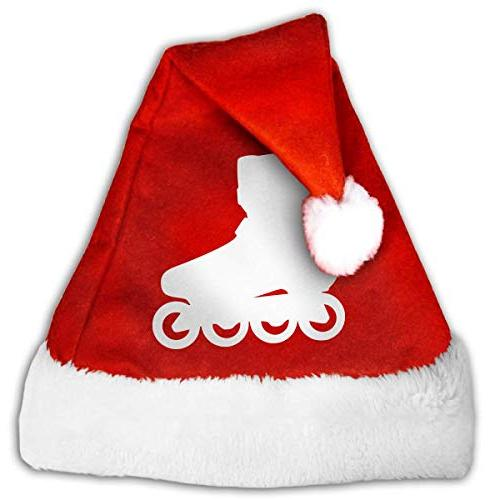 cheerful christmas snowflake hat silhouette