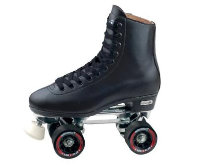 Chicago Men's Leather Lined Rink Roller Skate , Black