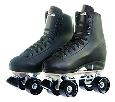 Men,s Leather Lined Rink Skate Size 8, Black New Free Shippi