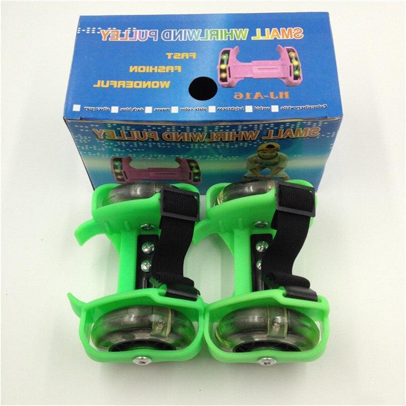 Children Wheel <font><b>Skate</b></font> Shoes Flashing Light Adjustable Sport Small Pulley IA32