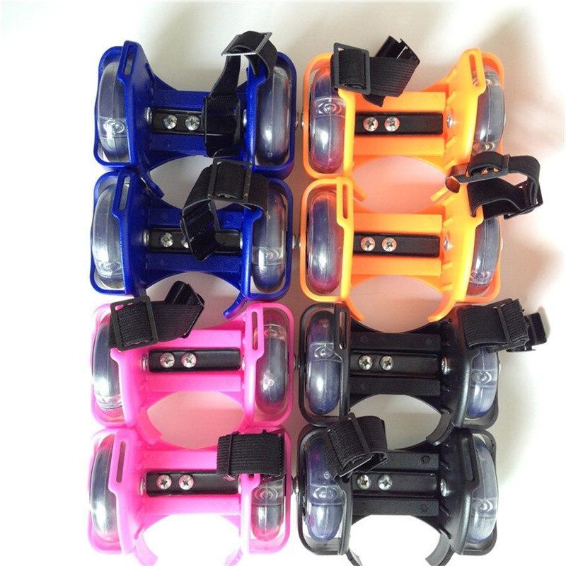 Children Wheel <font><b>Skate</b></font> Light Adjustable Wheels Sport Colorful