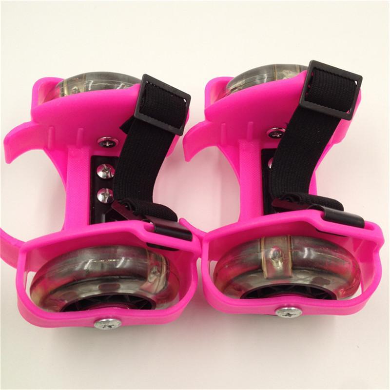 Children <font><b>Skate</b></font> Shoes LED Light Adjustable Sport Pulley Strap IA32