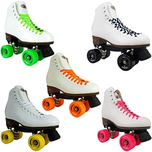 Riedell Rhythm Roller Skates w/8 Color Choices - Best Skate - Red Size