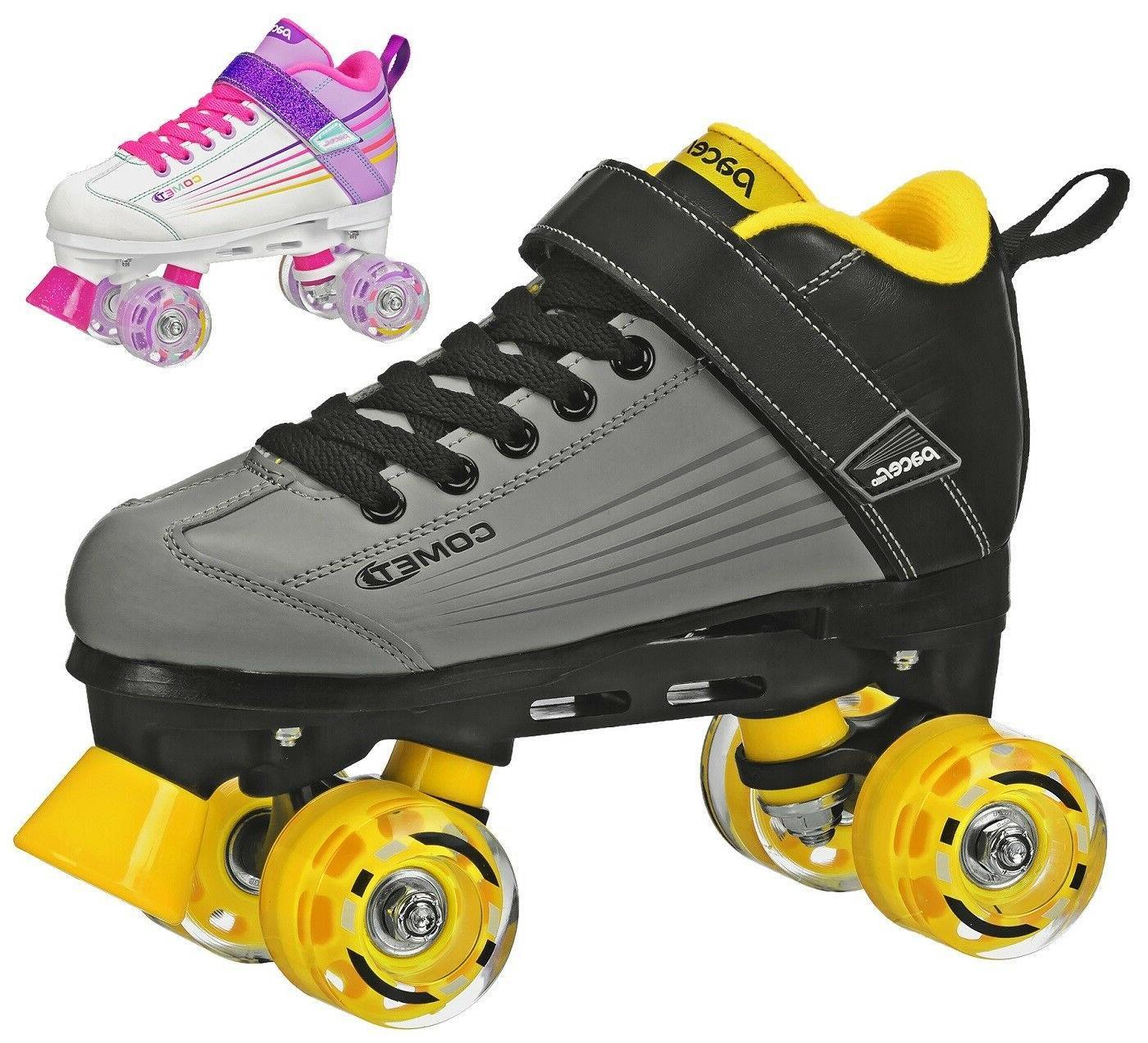 comet lite indoor outdoor roller skates grey