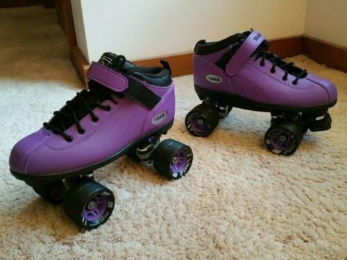 dart quad roller skates purple mens size