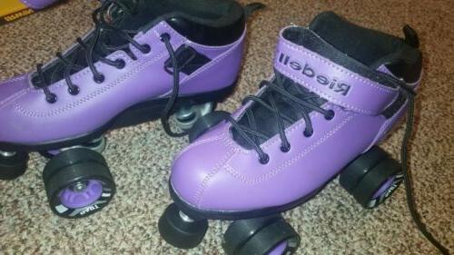 Riedell Skates Purple 7 EUC