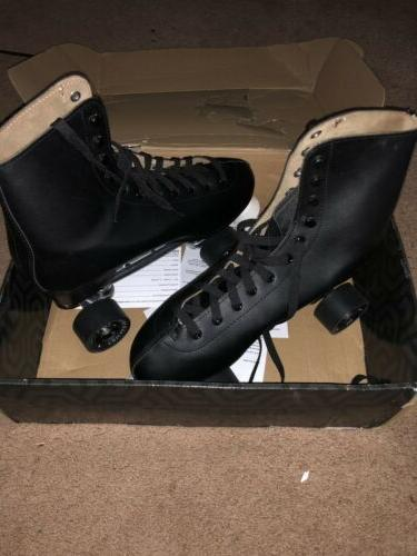 Chicago Leather Lined Rink Skate White