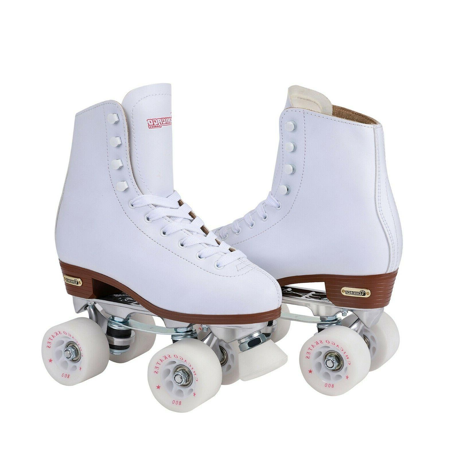 Chicago Leather Rink Roller White
