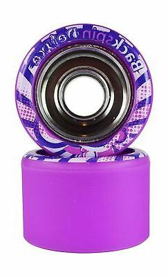 deluxe roller skate wheels purple