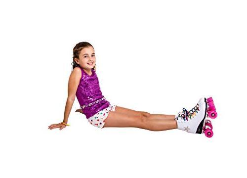 Crazy Skates Disco Skates LED Up Stars | Classic Style Rainbow Laces