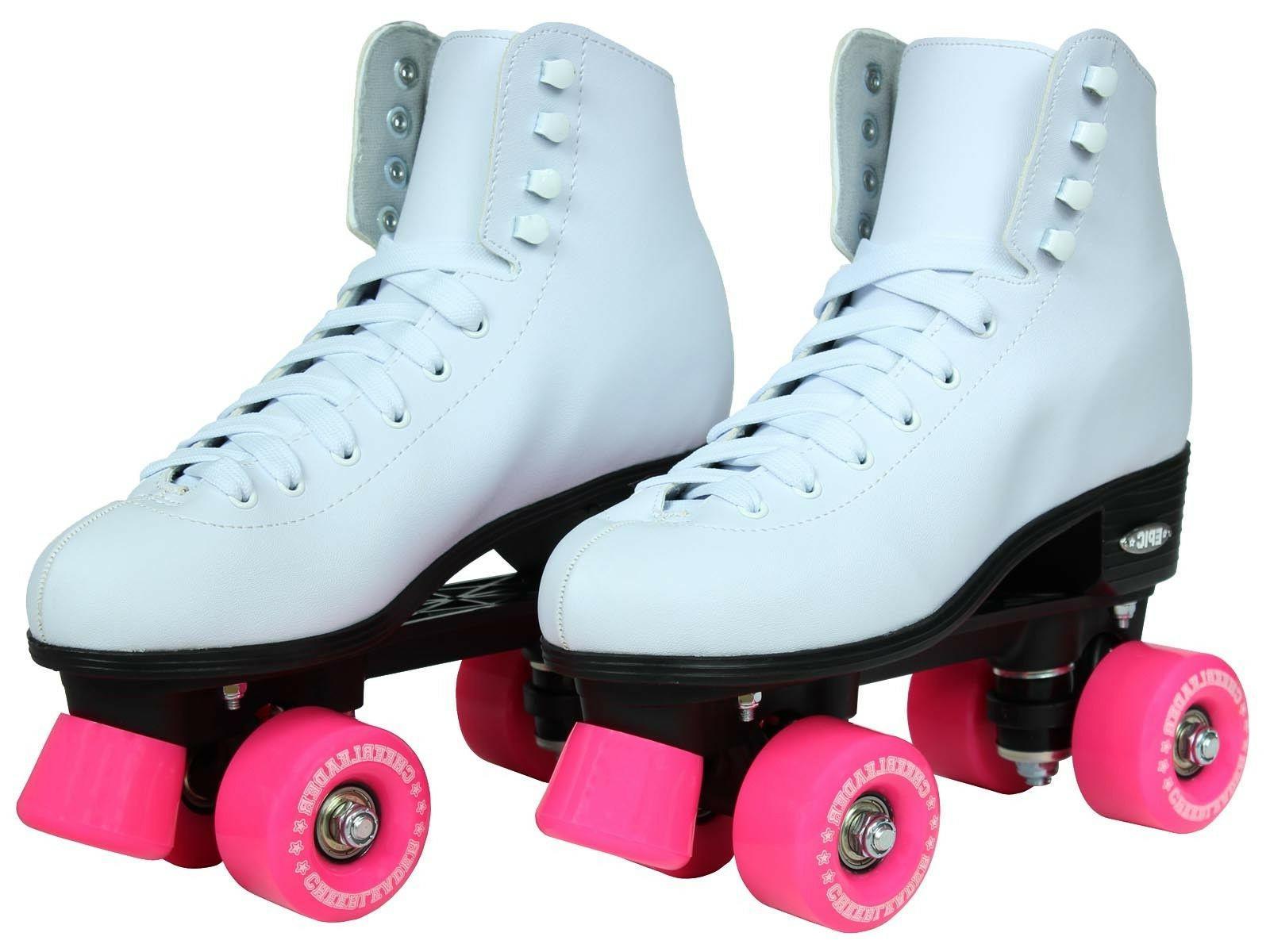 Epic White & Pink High-Top Quad Skates