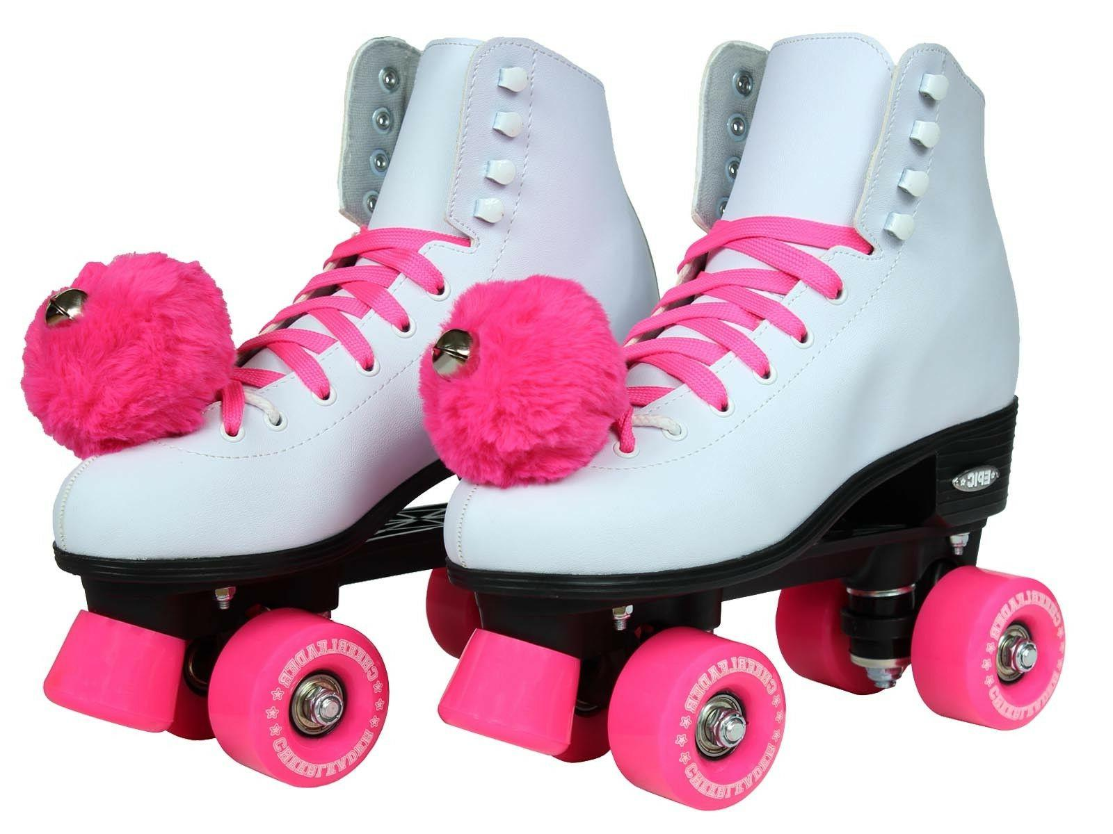 Epic Cheerleader White Pink Quad Roller Skates
